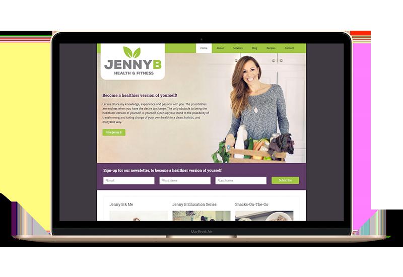 Jenny B Fitness Website